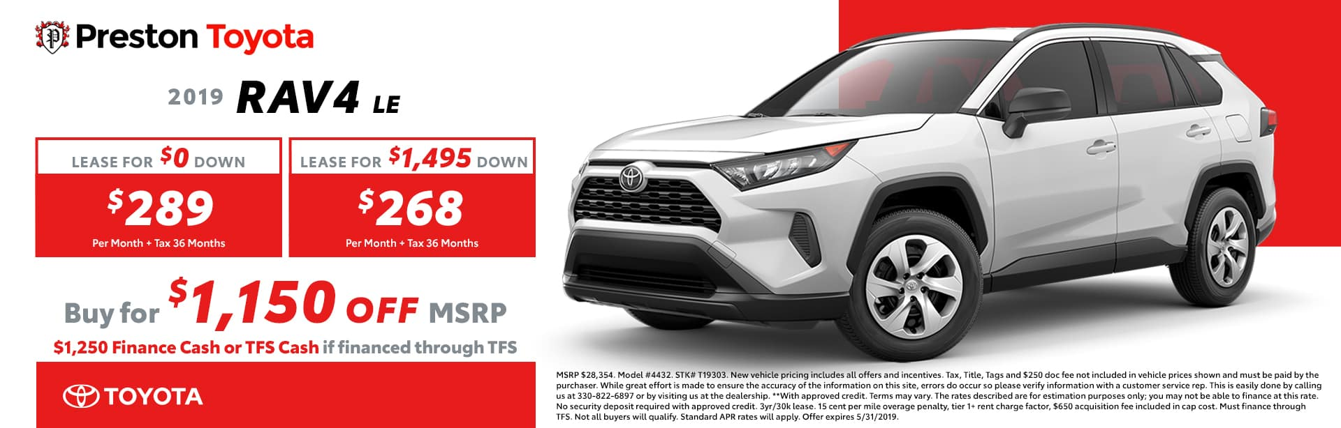 May Special on the 2019 Toyota RAV4