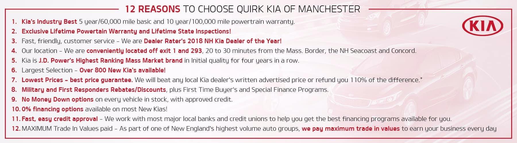 !2 Reasons to Choose Quirk Kia NH