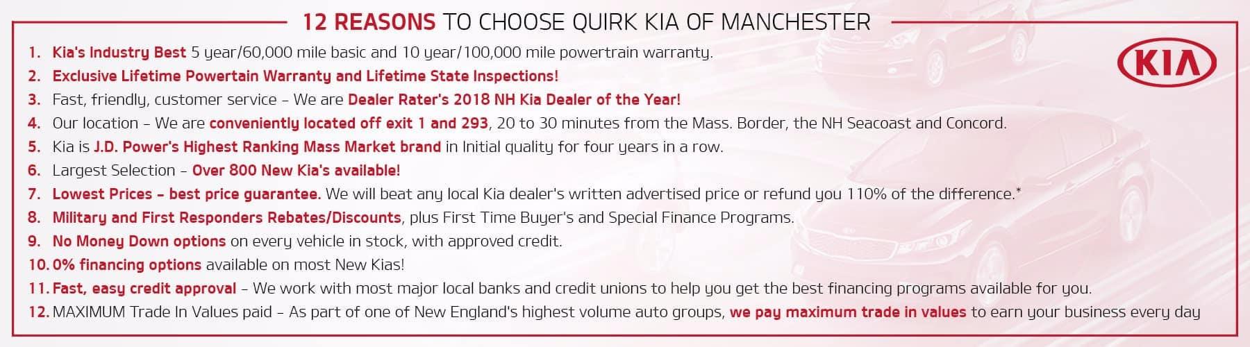 12 Reasons to Choose Quirk Kia