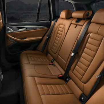 2018 BMW X3 leather seating
