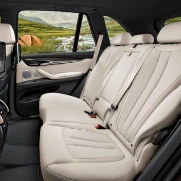 2018 BMW X5 rear seating