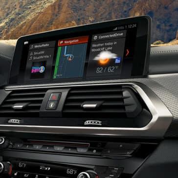 2019 BMW X3 screen