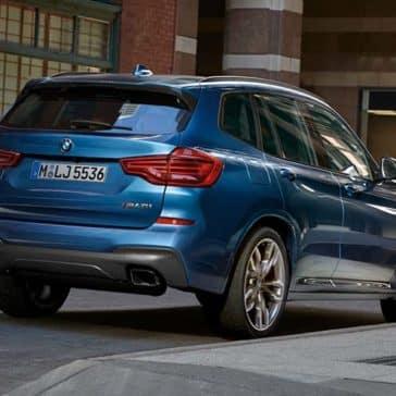 2019 BMW X3 rear view