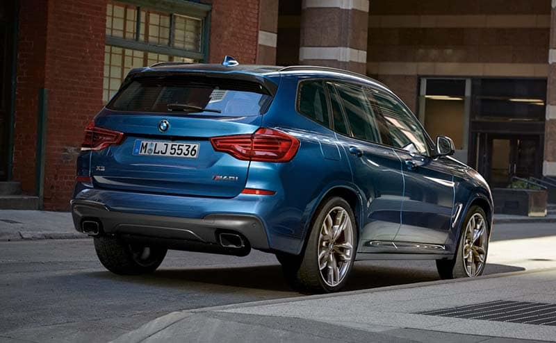 2019 BMW X3 rear view