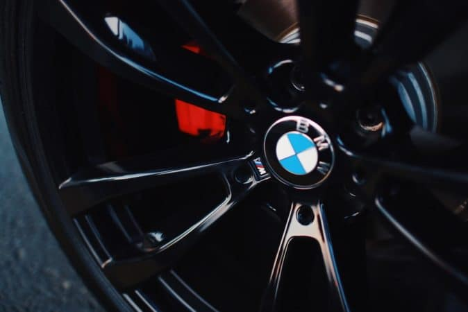 BMW logo on tire