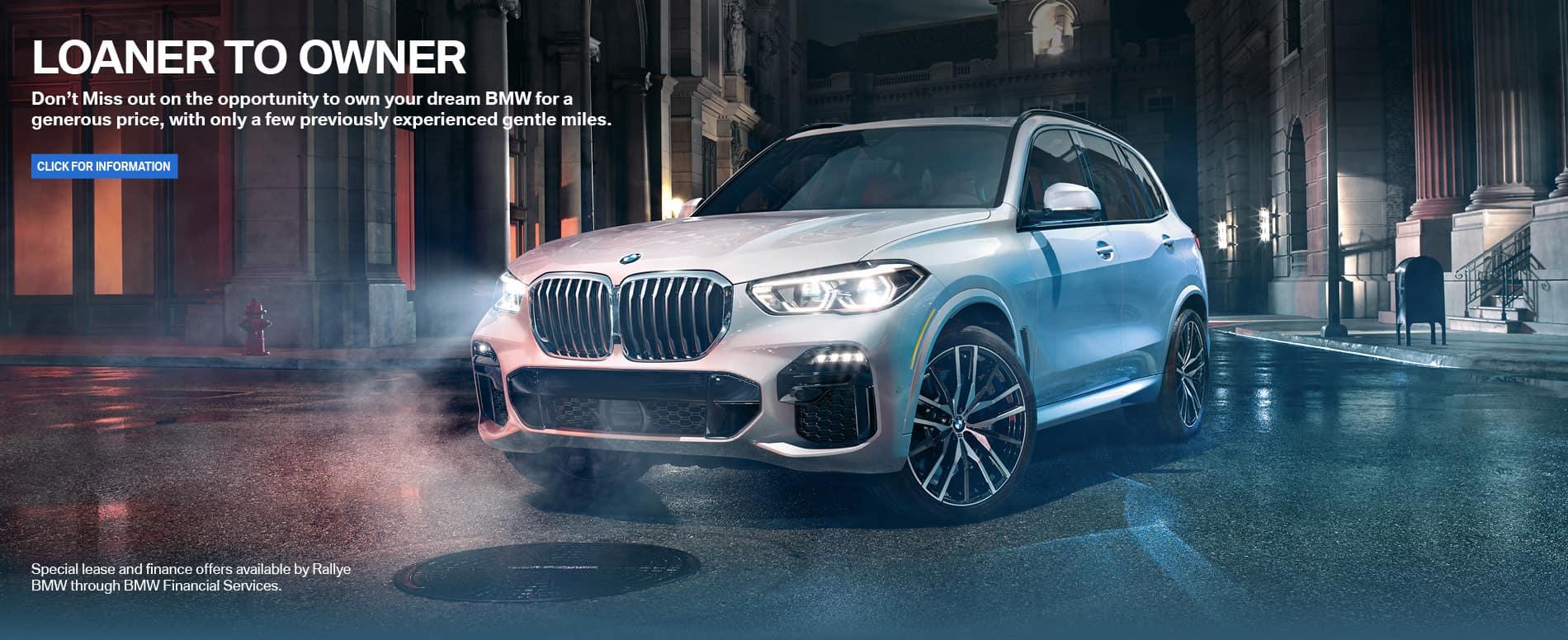 BMW Loaner specials