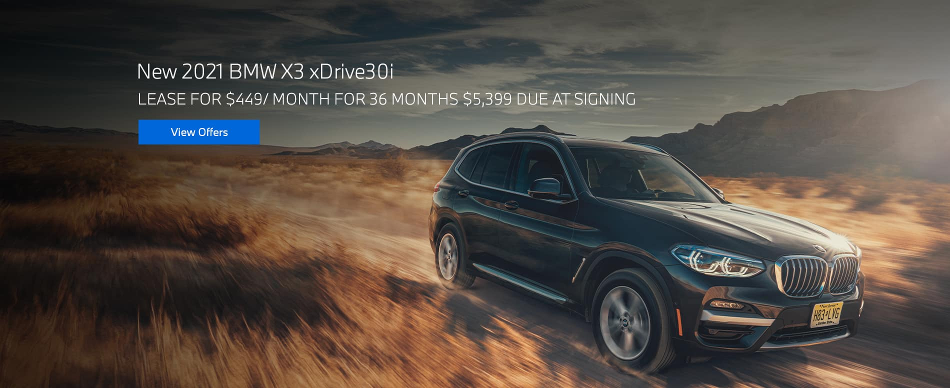 New 2021 BMW X3 xDrive30i$449/mo. for 36 months $5,399 due at signing