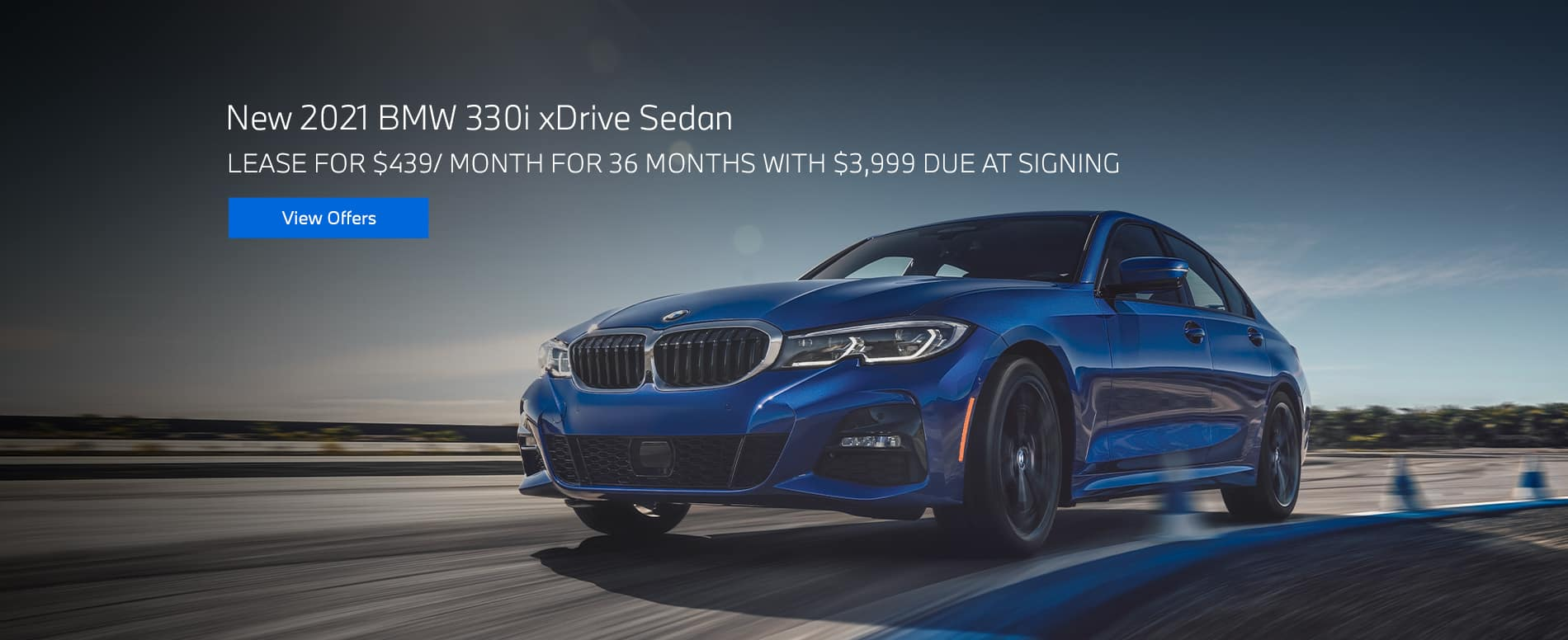 New 2021 BMW 330i xDrive Sedan $439/mo. for 36 months $3,999 due at signing