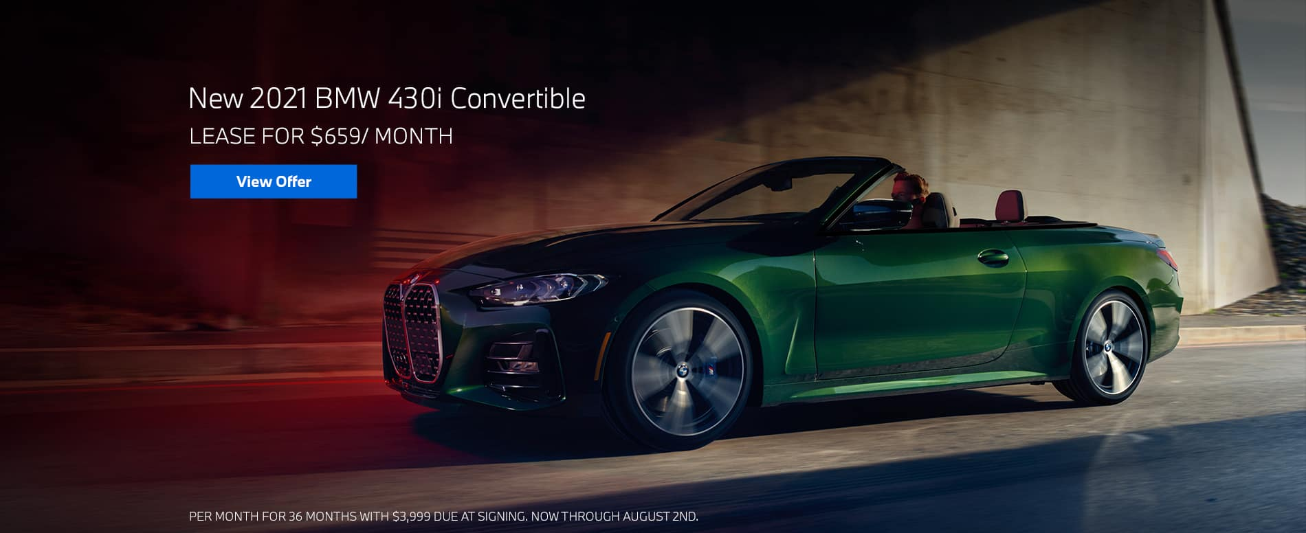 Lease a 2021 BMW 430i Convertible, $659