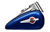 2016 Heritage Softail Classic Tank in Blue