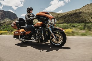 woman rides a 2016 Ultra Limited Low