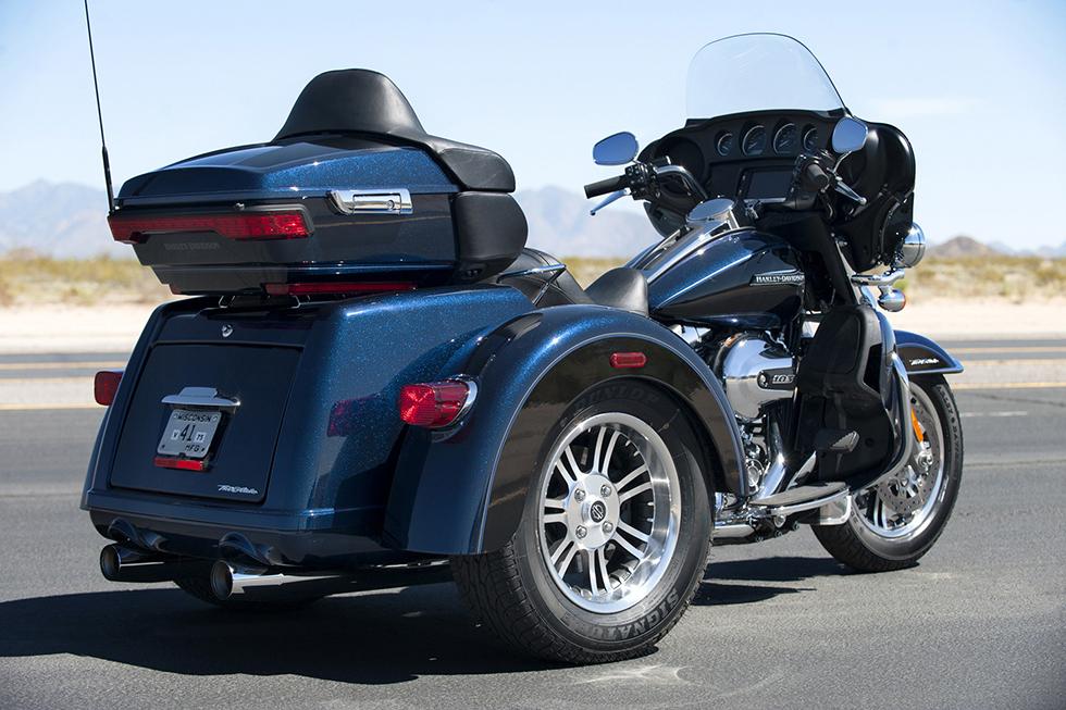 The 2016 Harley Davidson Tri Glide Ultra Provides Three