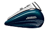 2016 Road King Cosmic Blue Pearl paint