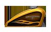 Harley-Davidson Forty Eight HC Gold Flake tank