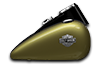 2016 Softail Slim olive gold tank