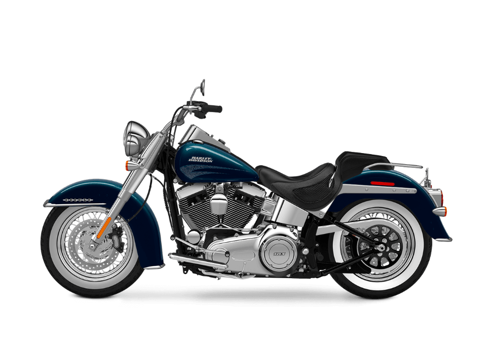 2016 Softail Deluxe cosmic blue pearl
