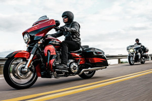rider on Harley-Davidson CVO Limited