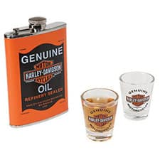 Harley Oil Can Flash Shotglass Set HDL-18557