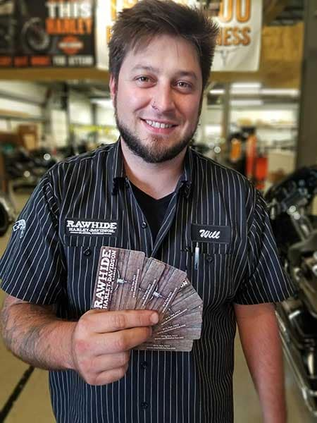 Rawhide Harley Gift Cards from Service til Dec 31 2019