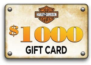 $1000 Rawhide Harley Gift Card