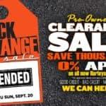 Black & Orange Pre-Owned Tag Sale or 0 APR On All New Harleys