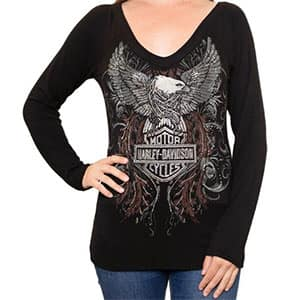 HT4457BLK-XS-XL Harley Top