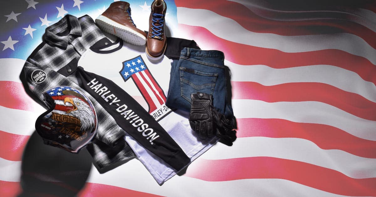Harley-Davidson 4th of July Patriotic Biker Apparel