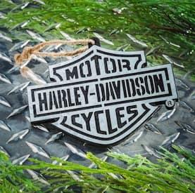 3OT4900WM Harley Bar & Shield Ornament