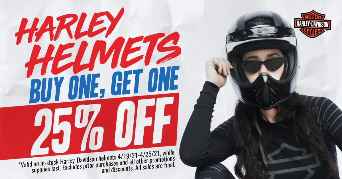 Harley Helmet Deals 25% off