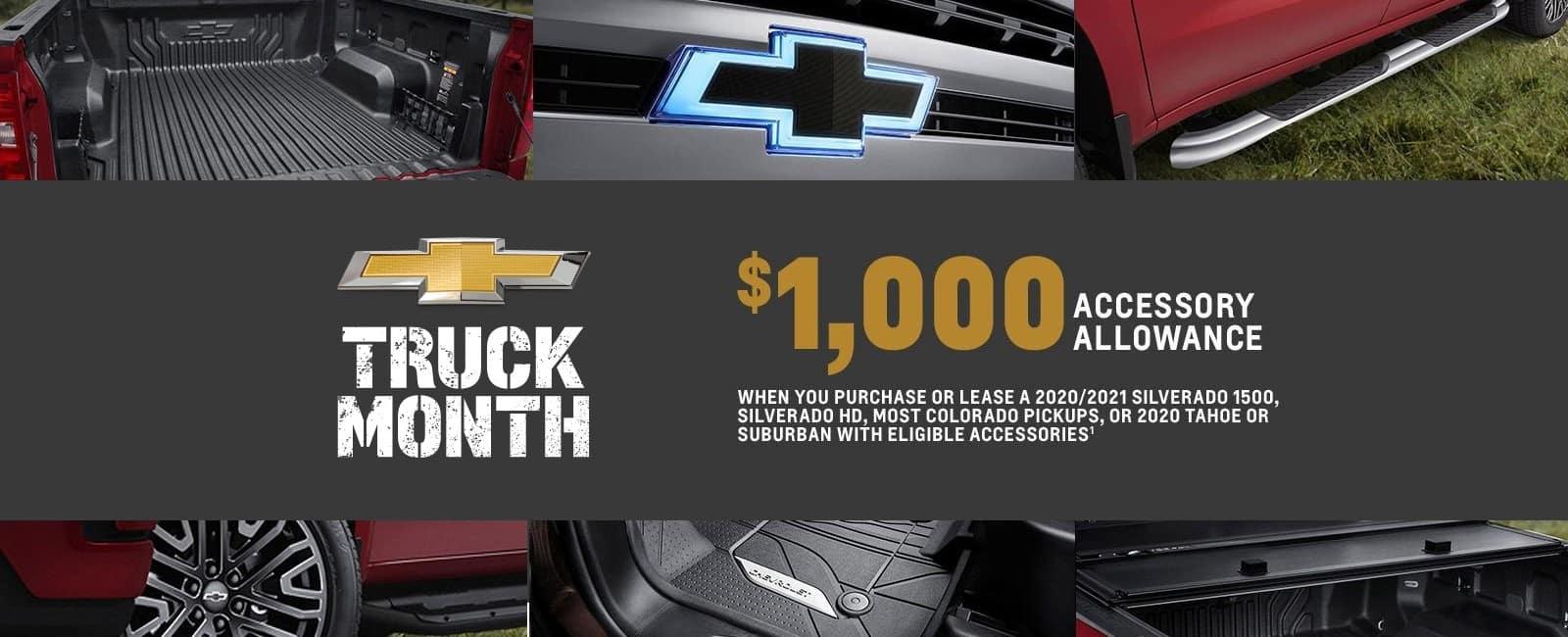 Accessory Bonus Allowance Truck Month