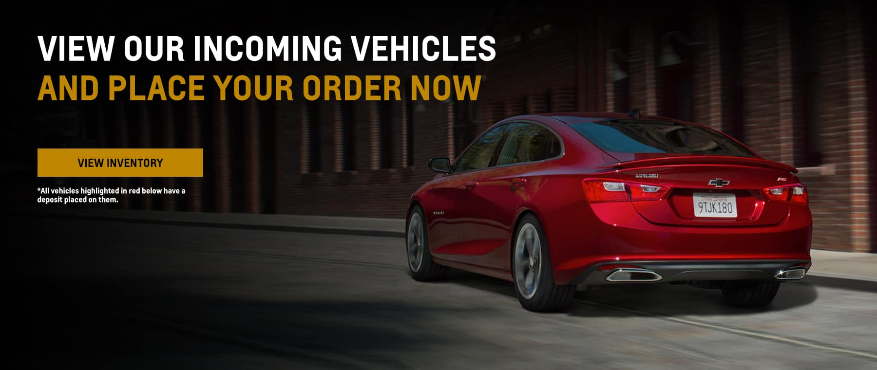 Incoming Vehicles