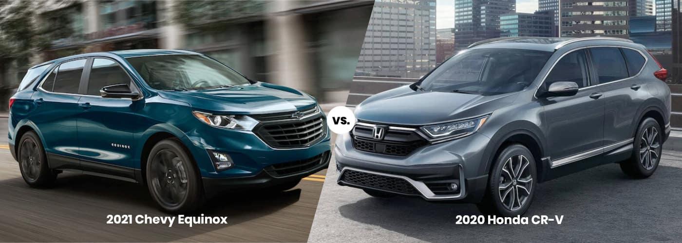 2021 Chevy Equinox vs. 2020 Honda CR-V banner