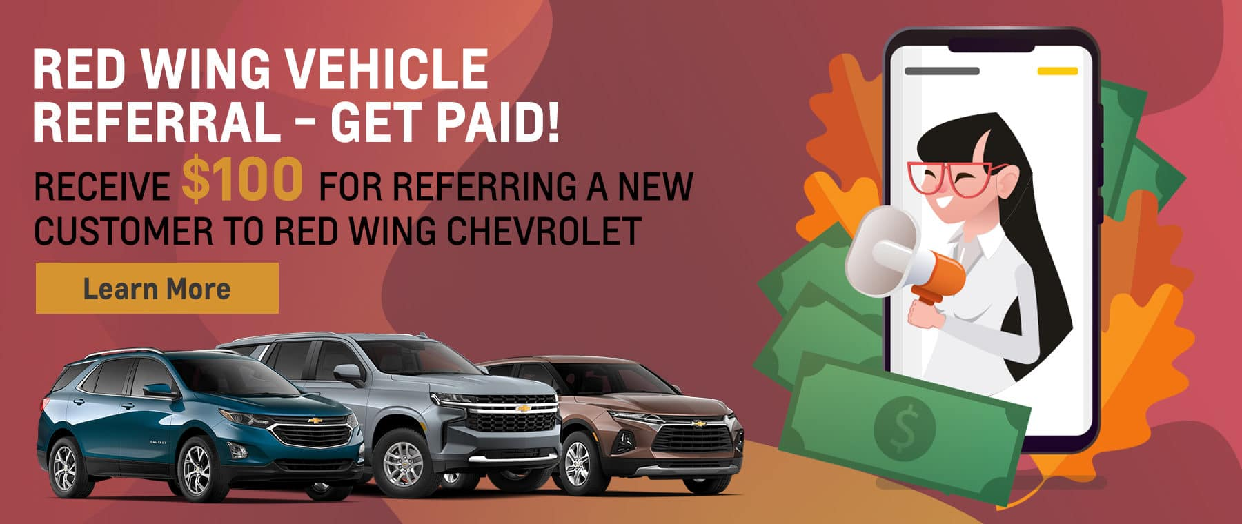 Red Wing Vehicle Referral - Get Paid!