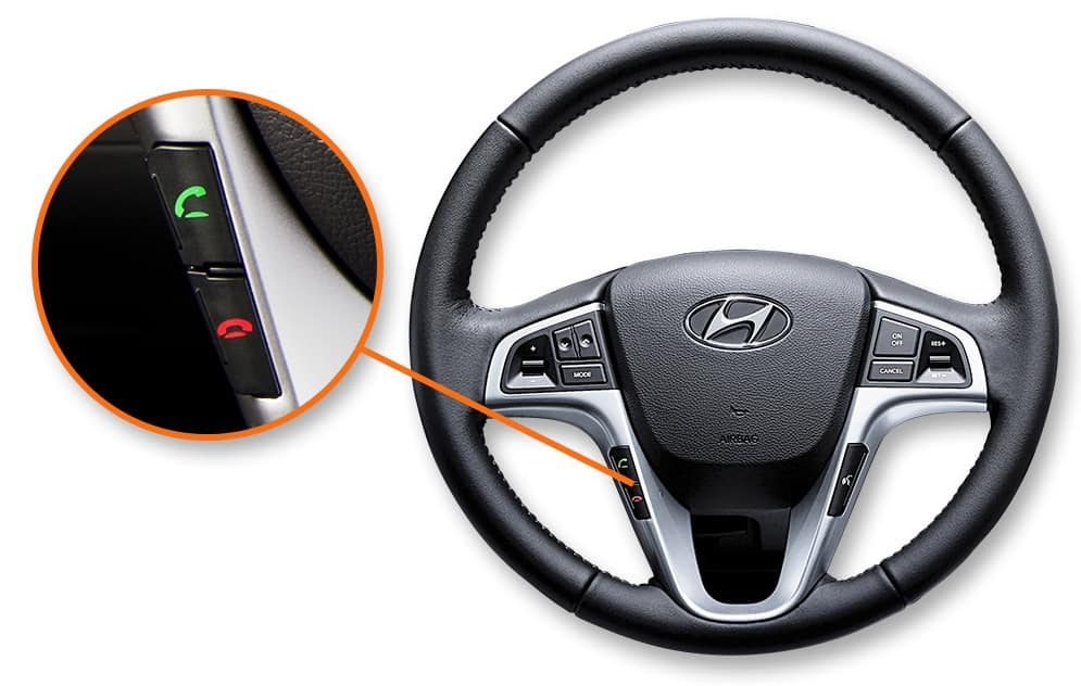 2017 Hyundai Accent Steering wheel controls
