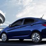 2017 Hyundai Accent in blue