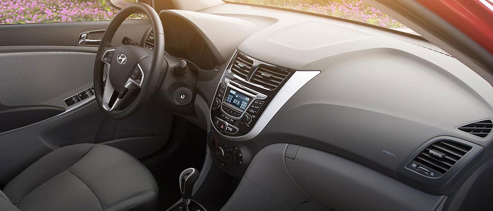 2017 Hyundai Accent interior dashboard