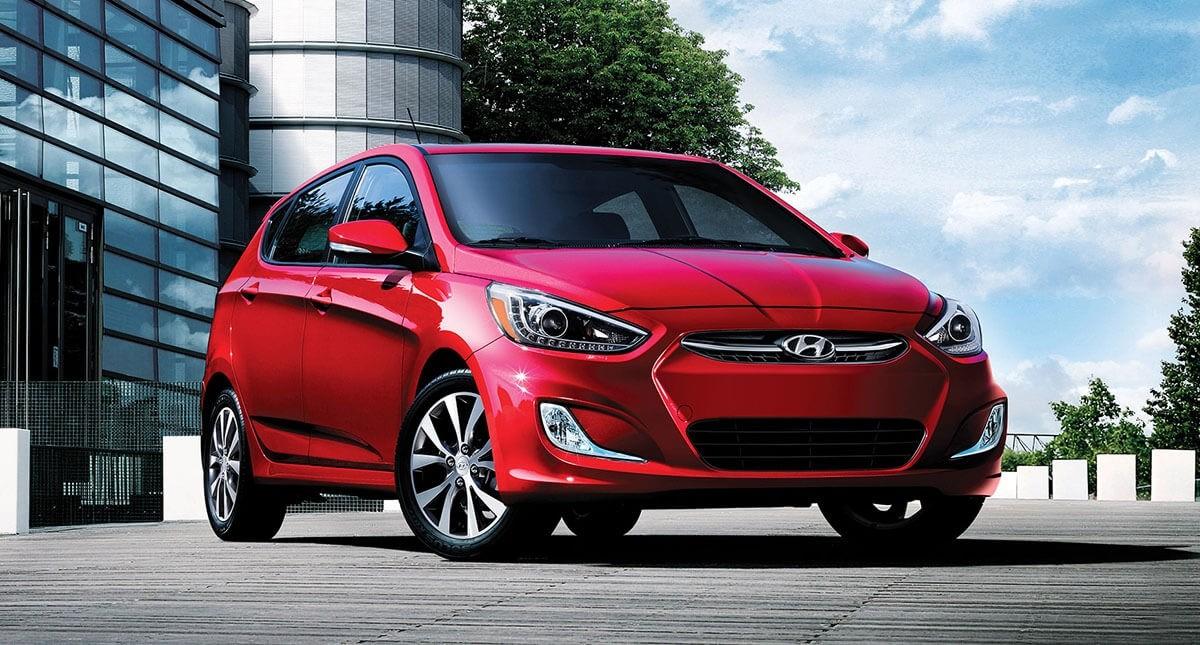 2017 Hyundai Accent in Boston Red