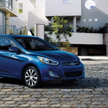 2017 Hyundai Accent parked