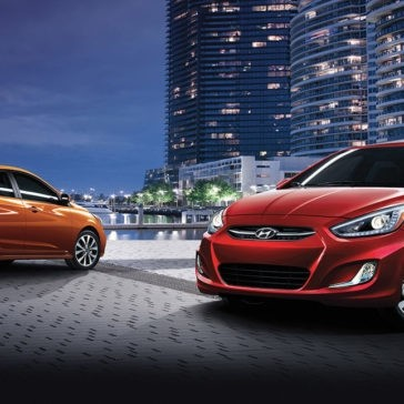 2017 Hyundai Accent in the city