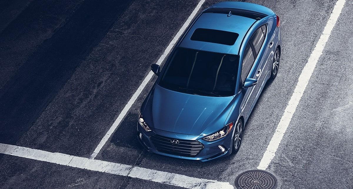 2017 Hyundai Elantra in blue