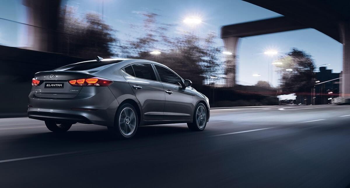 2017 Hyundai Elantra night drive