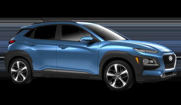 Blue 2018 Hyundai Kona