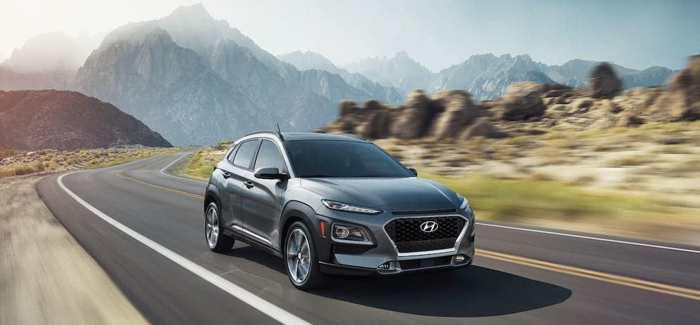 Hyundai Kona Driving in Valley