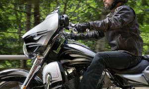 Rider on 2015 CVO Street Glide