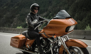 2015 Touring Road Glide with rider