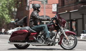 Rider on 2015 Touring Street Glide