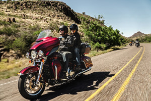 rider and passenger on 2015 Ultra Limited