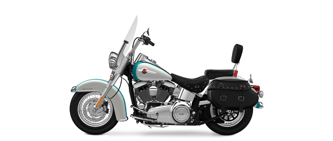 2016 Heritage Softail Classic White-Teal