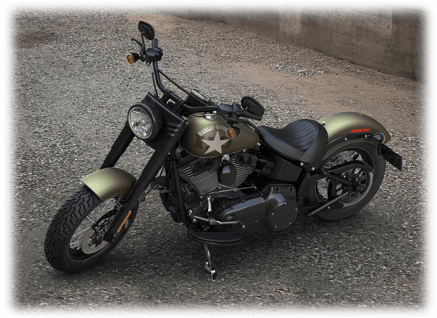 2016 softail slim green