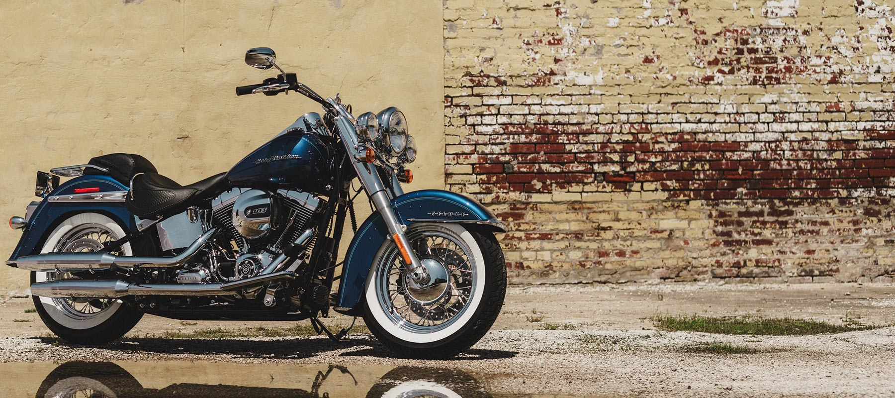 Softail Deluxe by Brick Wall